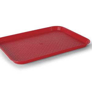 "CHAROLA RECTANGULAR ANTIDERRAPANTEК(10"" X 14"") COLOR: ROJO"