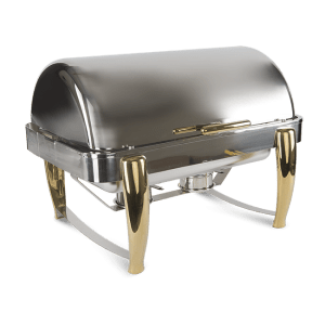 CHAFER RECTANGULAR DE LUJO DORADO